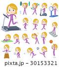 白人 運動 トレーニングのイラスト 30153321