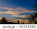 Dramatic sunset clouds 30153582