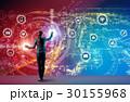 IoT ネットワーク 女性の写真 30155968