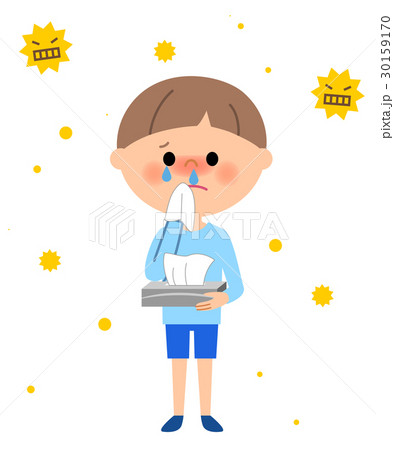 男の子 花粉症 30159170