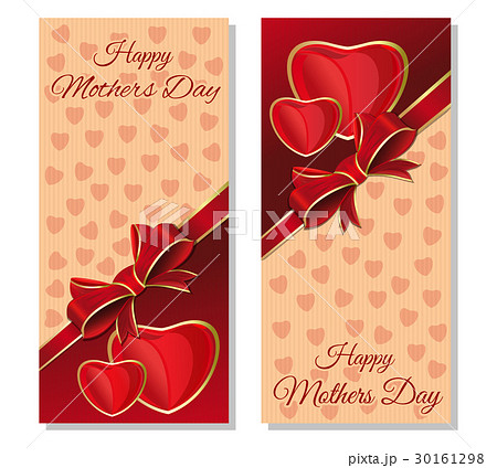 happy mothers day cards set vector flyer templateのイラスト素材