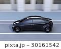 走行中の黒いスポーツカー 30161542
