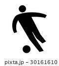サッカー選手 サッカー ピクトグラムのイラスト 30161610