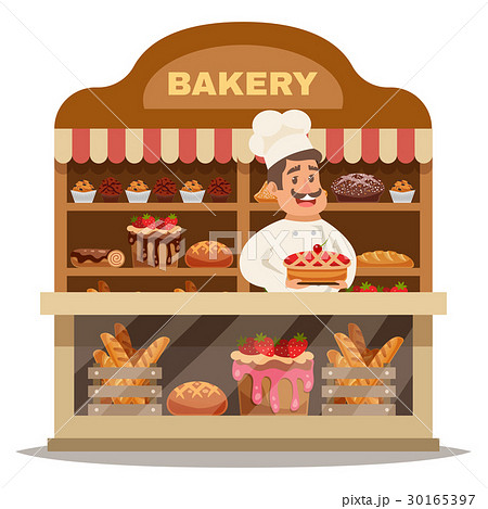 Bakery Shop Design Conceptのイラスト素材 [30165397] - PIXTA