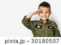 Schoolboy with pilot uniform for dream occupation 30180507
