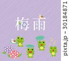 梅雨 デザイン文字 30184871