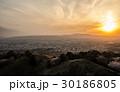 若草山 奈良市 夕暮れの写真 30186805