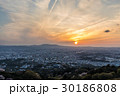 若草山 奈良市 夕暮れの写真 30186808