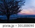 夕焼け 若草山 奈良市の写真 30188690