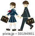 通学 男の子 女の子のイラスト 30194901