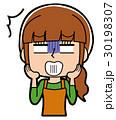 ショックを受ける主婦のイラスト 30198307