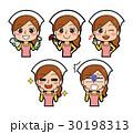 女性 人物 表情のイラスト 30198313