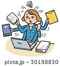 オーバーワーク ビジネスシーン デスクワークのイラスト 30198830