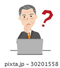 シニア ビジネスマン パソコン 30201558