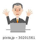 シニア ビジネスマン パソコン 30201561