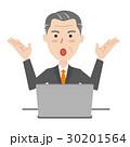 ビジネスマン ベクター パソコンのイラスト 30201564