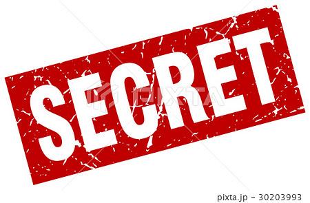 square grunge red secret stamp 30203993