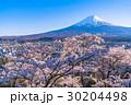 富士山 染井吉野 桜の写真 30204498