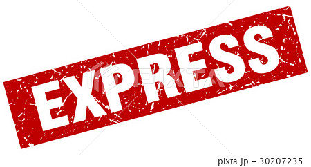 square grunge red express stamp 30207235