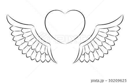 翼のイラスト素材 30209625 Pixta