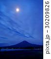 富士山 月夜 ラベンダーの写真 30209826