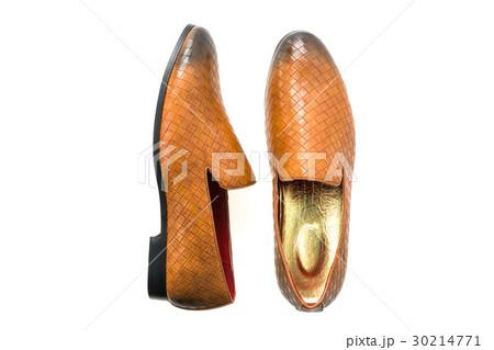 Brown leather shoesの写真素材 [30214771] - PIXTA
