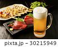 ビール 生ビール 刺身の写真 30215949