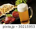 ビール 生ビール 刺身の写真 30215953