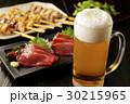 ビール 生ビール 刺身の写真 30215965