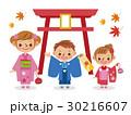 ベクター 七五三 神社のイラスト 30216607