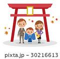ベクター 七五三 神社のイラスト 30216613