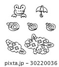 手書き チョークとクレヨン素材 6月のイメージ 30220036