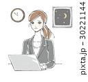 女性 残業 過労のイラスト 30221144