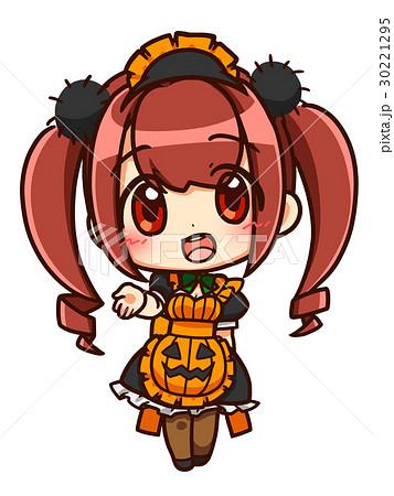 かぼちゃメイドa赤髪のイラスト素材 30221295 Pixta