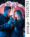 ナイト 傘 雨傘の写真 30226793