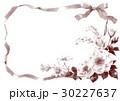 セピア リボン 花束のイラスト 30227637