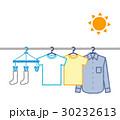 太陽と洗濯物 30232613