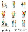 身体障害者 救済 助けるのイラスト 30233670