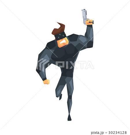 Secret Service Male Agent Running With Gun 30234128