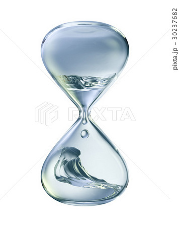 hourglass with dripping water close-upのイラスト素材 [30237682] - PIXTA