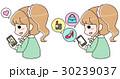 女性 買う ネットショッピングのイラスト 30239037