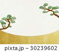 和を感じるイラスト(松、和紙) 30239602