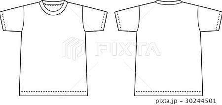 半袖tシャツ 絵型テンプレートのイラスト素材 30244501 Pixta