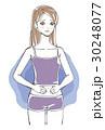 女性 お腹 違和感のイラスト 30248077