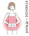 快腸でウインクする女性 ボブヘア 30249014
