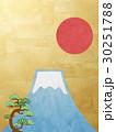富士山 松 日の丸のイラスト 30251788