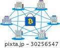 ブロックチェーン イメージ ロックのイラスト 30256547
