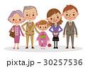 ベクター 家族 七五三のイラスト 30257536