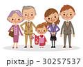 ベクター 家族 七五三のイラスト 30257537