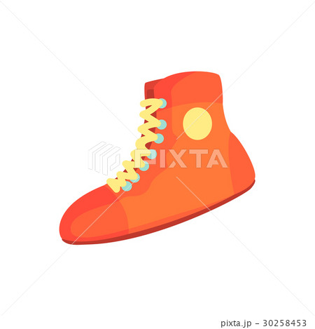 Red boxing shoes, sports equipment. Colorful 30258453